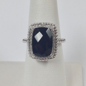 Jewelry - Natural Black Onyx with Natural Diamond Ring